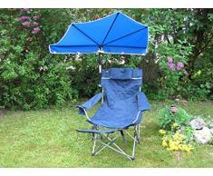 El regalo - novedad - el STABIELO silla plegable - REISE-SET - sombrilla - playa sunny Holly STABIELO - Camping - tiempo libre pantalla - ligero EINDREHBARER sombrilla + alta protección UV - colour rojo + silla plegable STABIELO