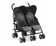 Chicco Echo Twin - Silla de paseo gemelar, color negro