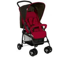 Hauck Sport - Silla de paseo ligera y practica para bebes de 0 meses hasta 6.2 kg, sistema de arnés de 5 puntos, respaldo reclinable, plegable, color negro y rojo