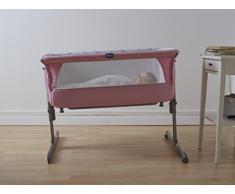 Chicco Next2me - Cuna de colecho con anclaje a cama y 6 alturas, colección 2017, color rosa