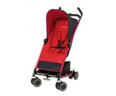 Maxi-Cosi 13053867 Noa - Silla de paseo compacta con cesta de la compra, capota, protector para la lluvia, pinza para sombrilla color rojo