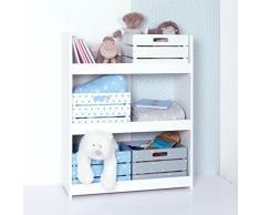 Estantería de madera para habitación de niño - 3 niveles - Color BLANCO