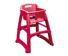Rubbermaid R050837 Rojo trona infantil - Silla alta (Rojo, 2 puntos, 59,7 mm, 59,7 mm, 75,6 mm)