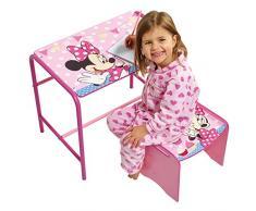 Disney 472MIZ - Juego de escritorio y taburete infantil con diseño de Minnie Mouse, color rosa