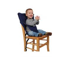 Asiento Sackn, asiento acolchado para la silla de los niños, Azul (dunkelblau)