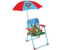 Fun House 712500 Pat Patrouille silla plegable con sombrilla para niños acero azul 38 x 8 x 50 cm
