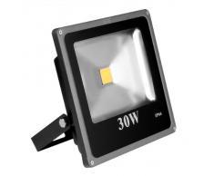 Lighting EVER® Iluminación LED luz de inundación exterior súper brillante de 30W, Equivalente a una bombilla SAP (sodio a alta presión) de 75 W, Blanco cálido, LED luz de inundación, Luces de seguridad