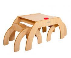Little Helper - Mesa infantil con 2 sillas, color beige