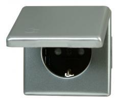 Kopp 115620083 Vision - Enchufe con tapa y protección de contacto