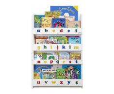 Tidy Books - Librería infantil, diseño de letras minúsculas, color blanco