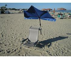 STABIELO - balcón - silla-sombrilla Holly'mat - compartimentos pantalla azul medio - con Holly 5 compartimento para radio ajustable 360° MULTI - soporte GVC (35 EUR) - para fijaciones de diámetro 25 - 55-60 mm - la innovación