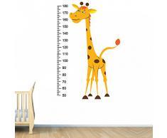 (93 x 142 cm) diseño de estampado de jirafa de vinilo adhesivo decorativo para pared/bebé de Vinilo medidor de altura adhesivo para Medidas regla / + diseño de patrones de costura para decoración de la habitación de los niños