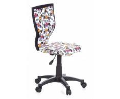 hjh OFFICE - 670067 silla para niños KIDDY LUX fórmula tejido, altura ajustable, ergonómica, cómoda,, motivo Fórmula 1, buen acabado, fácil de limpiar, silla juvenil