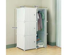 Dormitorio moderno armario montaje simple armario combinación de resina de tela plegable de almacenamiento de vestuario infantil de dibujos animados para adultos