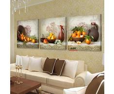 3 Unidades Moderna Lona Cocina Fruta Cuadros Para la Sala de estar Impresión Pinturas Murales Pintura Al Óleo Sobre Arte Imagen Modular Sin Marco
