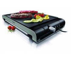 Philips HD4419/20 - Plancha Grill Placa estriad y lisa 2300 W con termostato ajustable, superficie antiadherente de la placa, elimina la grasa