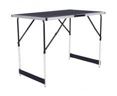 Mesa de trabajo de aluminio para empapelado, plegable, de 300 x 60 cm; ideal para camping, picnic
