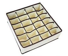 Chytaii. Juego De 4 Cajas Caja De Almacenamiento del Gabinete Plegables Organizadores De Cajones para De Ropa Interior Bufandas Pañuelos Calcetines
