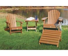 Highwood ADIRONDACK - Bandeja/mesita de lectura de madera sintética eco-friendly, color teca [Silla no incluida]