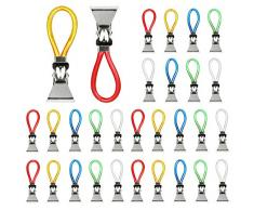 TANCUDER - 30 clips de metal para colgar toallas, toallas, ganchos, toallas, toallas, paños, paños de cocina, colgar toallas, clips, toallas, clips para toallas (multicolor)