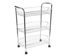 Carrito de cocina de metal compra barato carritos de for Carrito de cocina con ruedas