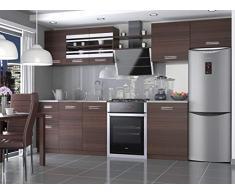 Muebles Cocina Completa, 300 cms, Modulos de cocinas ref-13 (Castaño)