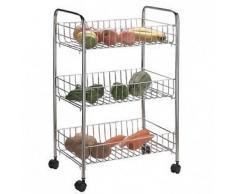 U66 Organizador con estantes de almacenamiento con 3 niveles de estantes para cocina, carrito con ruedas para frutas y vegetales