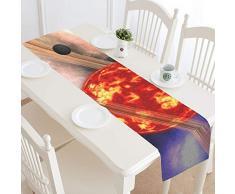JEOLVP Sun Planet Elements Esta Imagen amueblada Camino de Mesa, Cocina Mesa de Comedor 16 x 72 Pulgadas para cenas, Eventos, decoración