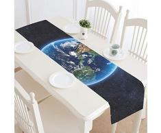 Reopx Planet Earth Elements Esta Imagen amueblada Camino de Mesa, Cocina Mesa de Comedor 16 x 72 Pulgadas para cenas, Eventos, decoración