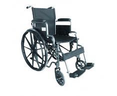 Silla de ruedas S220 de acero y autopropulsable - Prim ancho de asiento 43 cm