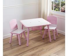 Delta, Juego de mesa y sillas para niños, color rosa
