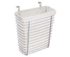 InterDesign Axis - Bote para basura/canasta para almacenamiento, para colocar sobre el gabinete