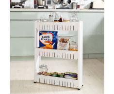 SoBuy Estanteria para nichos, Armario para nichos, Carrito para nichos, carrito de cocina, carrito de orden FRG40-W