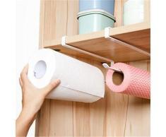 Hosaire Movimiento y Libre Perforado Wrap salvamanteles de plástico Soporte para Rollo de Papel de Cocina Toalla de Cocina Accesorio de Armario Rack de Almacenamiento de servilletas Soporte