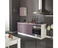 Symbiosis 8009A2138A80 - Módulo de cocina, color blanco / berenjena