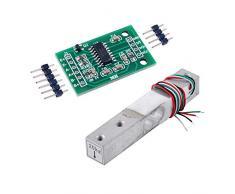 20 kg Sensor de peso Celda de carga Báscula electrónica de cocina + HX711 AD Módulo de pesaje para Arduino WIshiot