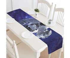 JEOLVP Whirlpool Galaxy Elements Esta Imagen amueblada Camino de Mesa, Camino de Mesa de Cocina 16 x 72 Pulgadas para cenas, Eventos, decoración