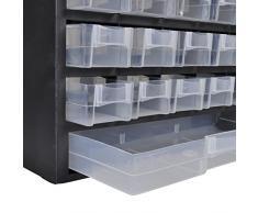 41 - Cajón Almacenamiento de Plástico Gabinete Caja de herramientas