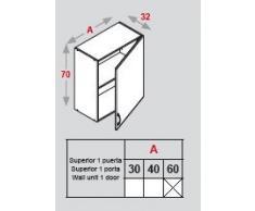 FINSA - MODULO COCINA EXCELENCE ALTO 60 PUERTA, INTERIOR BLANCO (70x60x30) (Blanco)