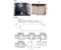 Caja de almacenamiento de plástico como gabinete guárdela-fuera