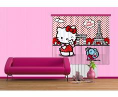Cortina de diseño AG FCS xl 4311/cortinas decorativo Hello Kitty