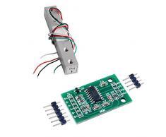 5 kg Sensor de peso Celda de carga Báscula electrónica de cocina + HX711 AD Módulo de pesaje para Arduino WIshiot