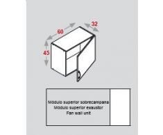 FINSA - MODULO COCINA EXCELENCE MODULO SUPERIOR SOBRECAMPANA 60 PUERTA, INTERIOR BLANCO (45x60x32) (Blanco)