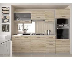 Muebles Cocina Completa,240 cms, Modulos de cocinas ref-09 (Sonoma)