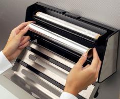 Emsa 504180 Contura - Portarrollos de cocina (para 3 rollos, de acero inoxidable, 41 cm), color negro