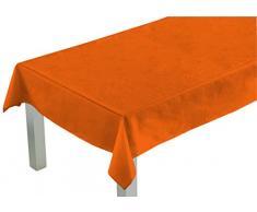 Comptoir du Linge CSI09007 tela mantel cuadrado/poliéster/algodón/de teflón naranja 180 x 180 cm x 0,5 cm