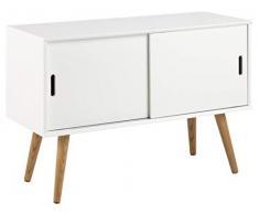 AC Design Furniture Aparador Mariela, Puertas 2 Piezas, Madera, Blanco, 100 x 38 x 69.5 cm