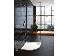 Galdem ducha bañera 80 x 80 x 5,5 cm R55 cuarto circular plano bañera ducha Taza de acrílico de alta calidad para mampara de ducha cabina