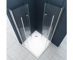 La entrada en curva Cabina de ducha Ducha Vigo 90 x 90 x 195 cm / 8 mm / sin un plato de ducha