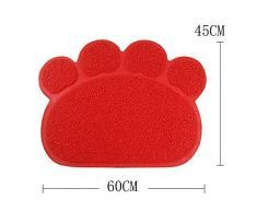Cat Mat, EONHUAYU Alfombrilla para Mascotas de Mascotas Alfombra Suave Antideslizante de PVC para Gato, Perro (Rojo)